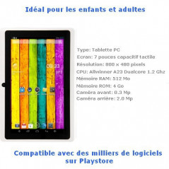 Tablette-PDA blanche Tactile 7 pouces Android 4 Wifi Tablette-PDA A23 - 2