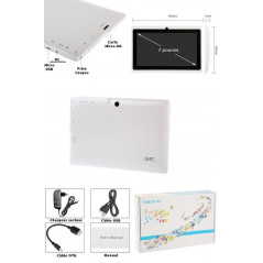 Tablette-PDA blanche Tactile 7 pouces Android 4 Wifi Tablette-PDA A23 - 3