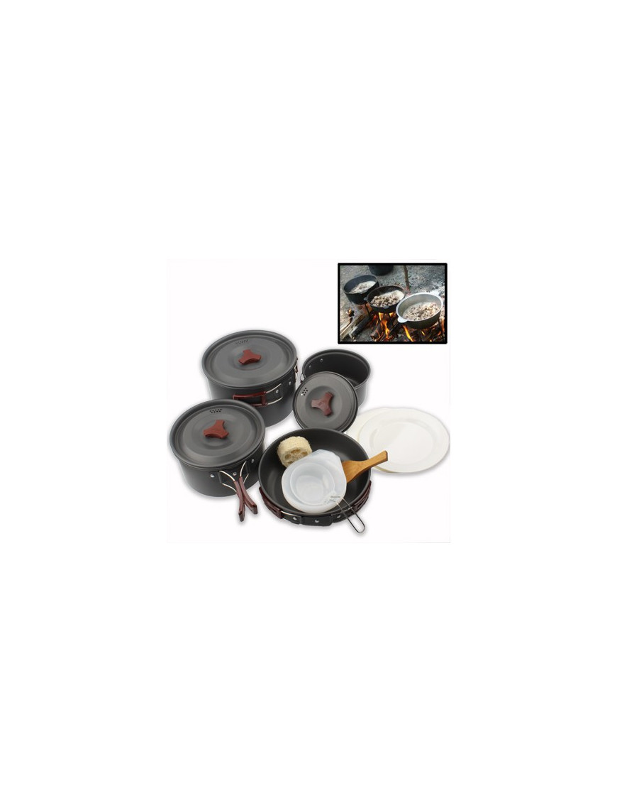 Set 9 pièces cuisson Cookware (camping) NO-NAME - 1