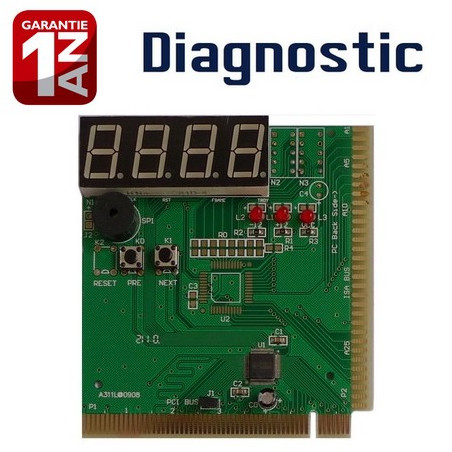 Carte de diagnostic PCI pour Carte Mère (4 BITS-4 LED)