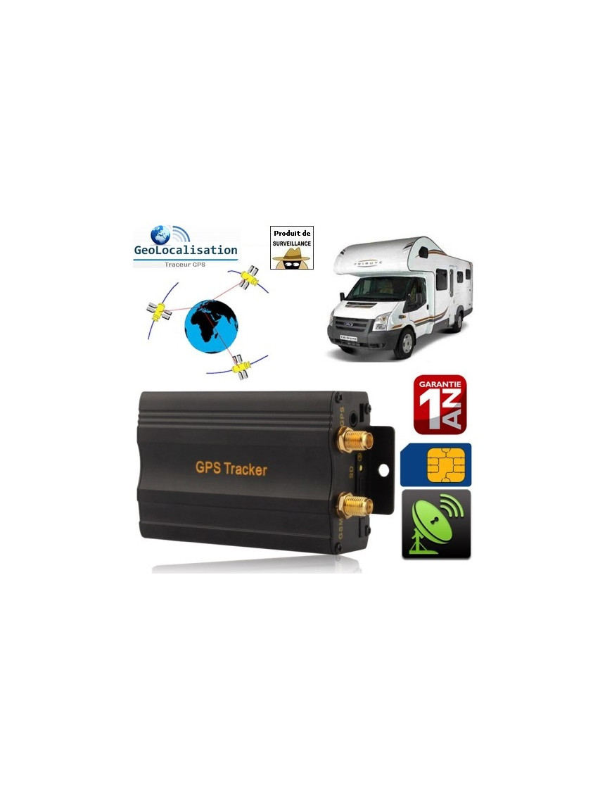 Traceur GPS, GSM, GPRS (véhicule) port Micro-SD NO-NAME - 1