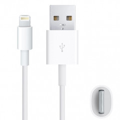 Câble USB blanc recharge (iPhone 6/6+, 5S/5C/5, iPad, iPod...) NO-NAME - 1