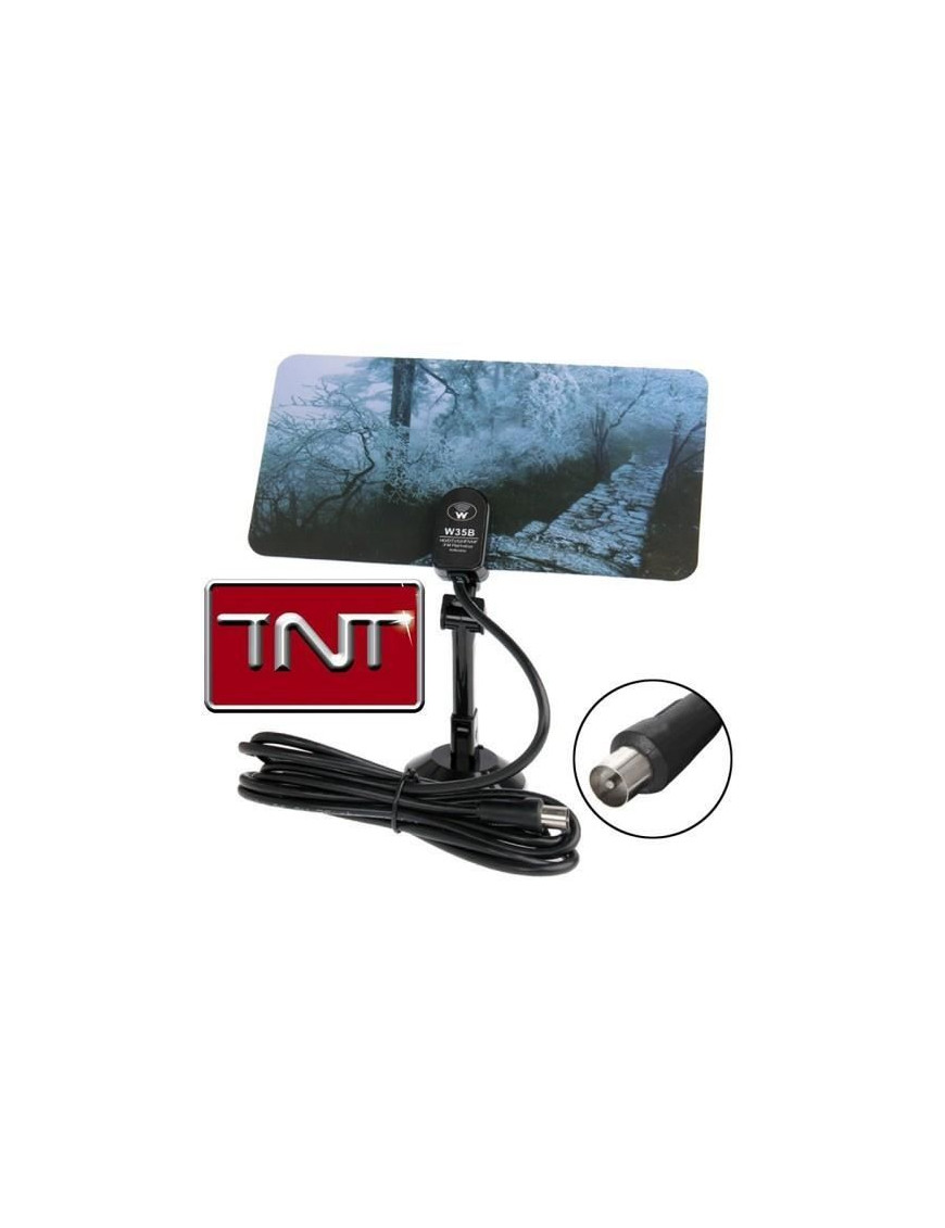 Antenne TNT/UHF/VHF/HD intérieur fixation ventouse NO-NAME - 1