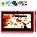 Tablette-PDA rouge, Tactile 7 pouces, Android 4.2.2, Wifi, 2 caméras Tablette-PDA A23 - 1