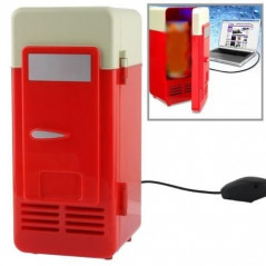 Mini-frigo USB pour canette (rouge) Fridge-USB - 1