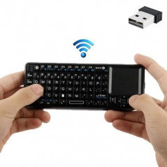 Mini-clavier avec souris +pointeur s-fil Bluetooth NO-NAME - 1