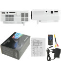 Mini-projecteur HD 1080P Led, Hdmi, Vga, Usb, Sd (blanc) MINI PROJECTOR - 3