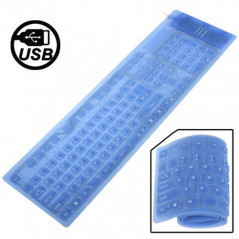 Clavier flexible elastomère USB étanche Silicone Keyboard - 1