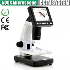 Microscope digital x500 - Ecran LCD - 5MP - 8LED - Micro SD jusqu'à 32Go LCD DIGITAL MICROSCOPE - 1