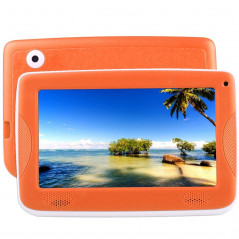 Tablette PC - Kids - Enfants - 4Go - Android 4.4 - Wifi - Orange - Etui silicone ANDROID - 1