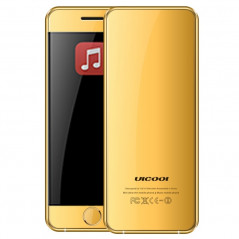 Téléphone portable ULCOOL V6, 2Sim, Bluetooth,Fm, Gold/Or