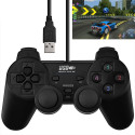 Manette de jeu pour PC, USB double choc unique (noir) PC GAME ACCESSORIES - 1