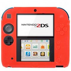 Pure Color Ultra Thin Silicone Case for Nintendo 2DS (Red)