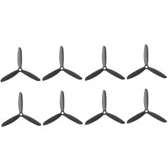 4 Pairs 6045 3-Blades Propeller CW/CCW Props for RC Quadcopter(Black)