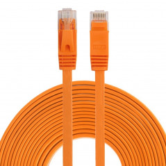 Câble LAN Réseau Ethernet - 8m - CAT6 - RJ45 - Ultra fin plat - Orange