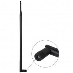 12dBi RP-SMA Antenna for Router Network(Black)
