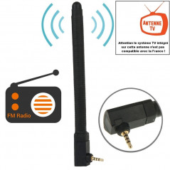 High Quality 6dBi 2.5mm Stereo Mobile FM & TV Antenna(Black)