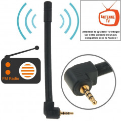 High Quality 6dBi 2.5mm Stereo Mobile FM & TV Antenna, Length: 10.2cm(Black)