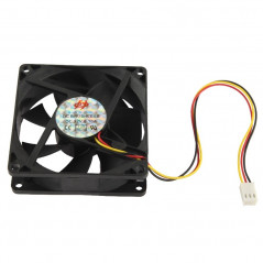 80mm 3-pin Cooling Fan (8025 3-pin)(Black)