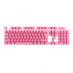 104 Keys Double Shot PBT Backlit Keycaps for Mechanical Keyboard(Pink)