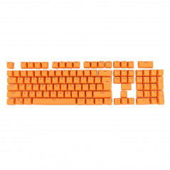 104 Keys Double Shot PBT Backlit Keycaps for Mechanical Keyboard(Orange)