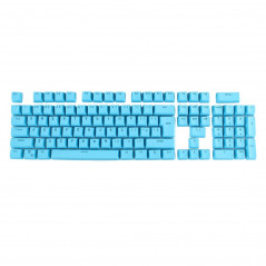 104 Keys Double Shot PBT Backlit Keycaps for Mechanical Keyboard(Blue)