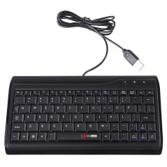 Clavier d'ordinateur multimédia mini-clavier de 78 touches (noir) Wired Keyboard - 1