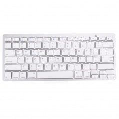 Clavier sans fil Bluetooth, 78 touches ultra-mince pour Windows / iPad / iPhone,QWERTY (argent) Wireless Keyboard - 1
