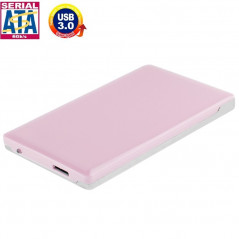 High Speed 2.5 inch HDD SATA & IDE External Case, Support USB 3.0(Pink)