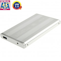 High Speed 2.5 inch HDD SATA External Case, Support USB 3.0(Silver)