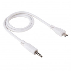 3.5mm Male to Micro USB Male Audio AUX Cable, Length: about 50cm