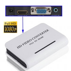 Convertisseur audio vidéo PC / DVD VGA vers HDTV HDMI (blanc) HDMI Cable or Adapter - 1
