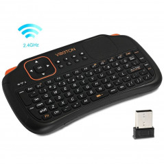VIBOTON S1 Air Mouse 83-keys QWERTY 2.4GHz Mini Rechargeable&160Wireless Keyboard with Touchpad for PC, Pad, Android / Google TV