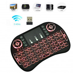 mini i8 Air Mouse 92-keys QWERTY 2.4G Wireless Backlight Keyboard with Touchpad for Android TV Box & Google TV Box & PC Tablet &
