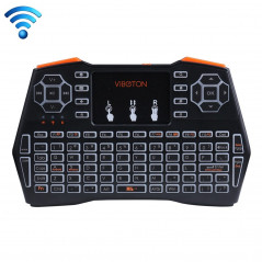 VIBOTON i8 Plus 2.4GHz Mini Wireless Fly Air Mouse Full Keyboard with Backlight & Touchpad & Multimedia Control for PC, TV(Black