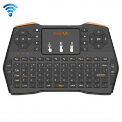 VIBOTON i8 Plus Updated 2.4GHz QWERT Mini Wireless Keyboard with Touchpad for TV Box, Mi Box, Computer, Tablet, Laptop and Proje