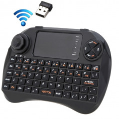 Mini Clavier sans fil, 83 touches QWERTY avec pavé tactile et 3 indicateurs LED pour PC / Pad / Android / Google TV Box