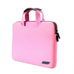 15.4 inch Portable Air Permeable Handheld Sleeve Bag for MacBook Air / Pro, Lenovo and other Laptops, Size: 38x27.5x3.5cm (Pink)