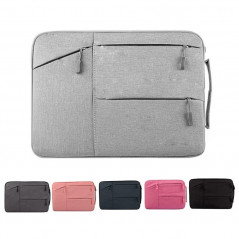 Universal Multiple Pockets Wearable Oxford Cloth Soft Portable Simple Business Laptop Tablet Bag, For 14 inch and Below Macbook,