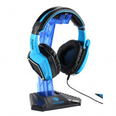 Support Casque Pc Gamers SADES Universelle Multi-fonction (Bleu)