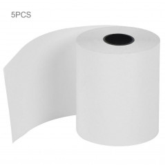 5 PCS 58mm 57*30mm 0.03mm Thickness Thermal Paper