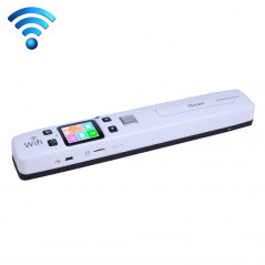 iScan02 WiFi Double Roller Mobile Document Portable Handheld Scanner with LED Display, Support 1050DPI / 600DPI / 300DPI / P