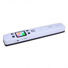 iScan02 Double Roller Mobile Document Portable Handheld Scanner with LED Display, Support 1050DPI / 600DPI / 300DPI / PDF /
