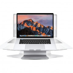 SOPI ZJ-001 Rotation Style Aluminum Cooling Stand with Cool Fan for Laptop, Suitable for Mac Air, Mac Pro, iPad, and Other Lapt