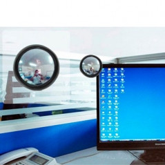 Computer Rearview Convex Glasses Rear View Mirror (Random Color Delivery)