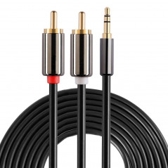 Câble audio stéréo RCA mâle ( 5 m ) Jack 3,5 mm RCA Cable or Adapter - 1
