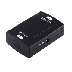 Coaxial RCA Input to Optical Toslink Output Digital Audio Converter Adapter(Black)