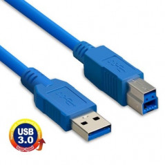 USB 3.0 A Male to B Male Extension / Data Transfer / Printer Cable, Length: 1.5m