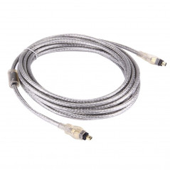 High Quality Firewire IEEE 1394 4Pin Male to 4Pin Male Cable, Length: 5m (Gold Plated)
