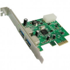 Carte adaptateur PCI Express vers 2 ports USB 3.0 PCI PCI CARD - 1